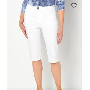 Christopher & Banks White Skimmer Relaxed Fit Pant